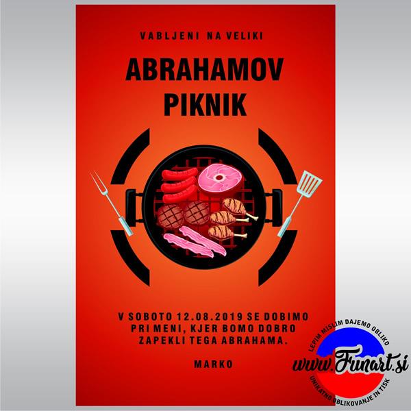 Vabilo Abraham 50 let