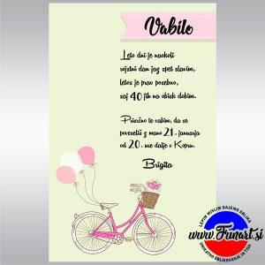 Vabilo Funart 40 rojstni dan