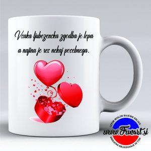 Valentinovo skodelica zaljubljena ljubezen