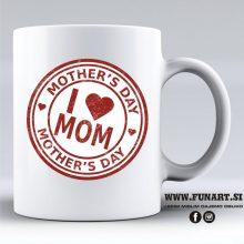 Skodelica mama ljubim te materinski dan