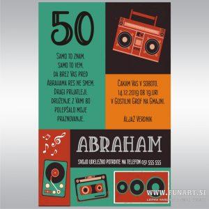 Tisk vabila Abraham Retro 50 let