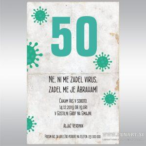 Vabilo Abraham Corona 50 let