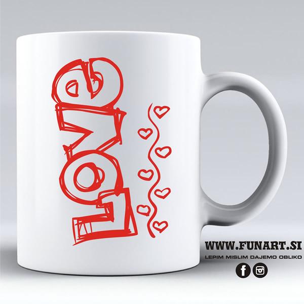 Skodelica Funart Valentinovo Ljubezen